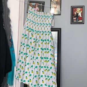 Pineapple Palm Tree Cover up dress